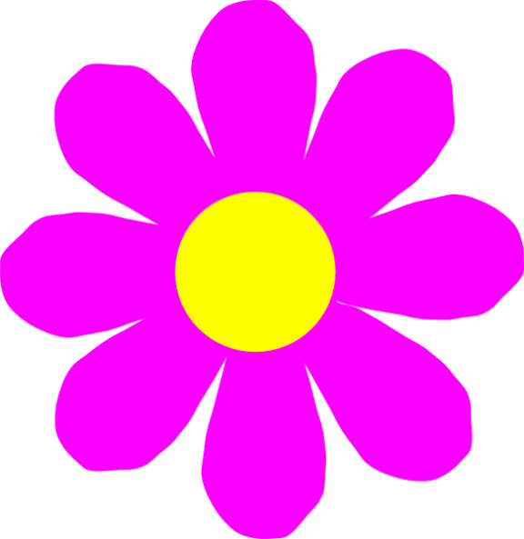 Flowery number one clipart.