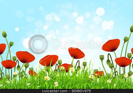 Flower Background stock vector.