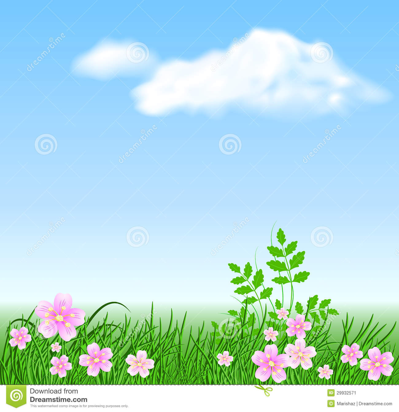 Flower meadow clipart.