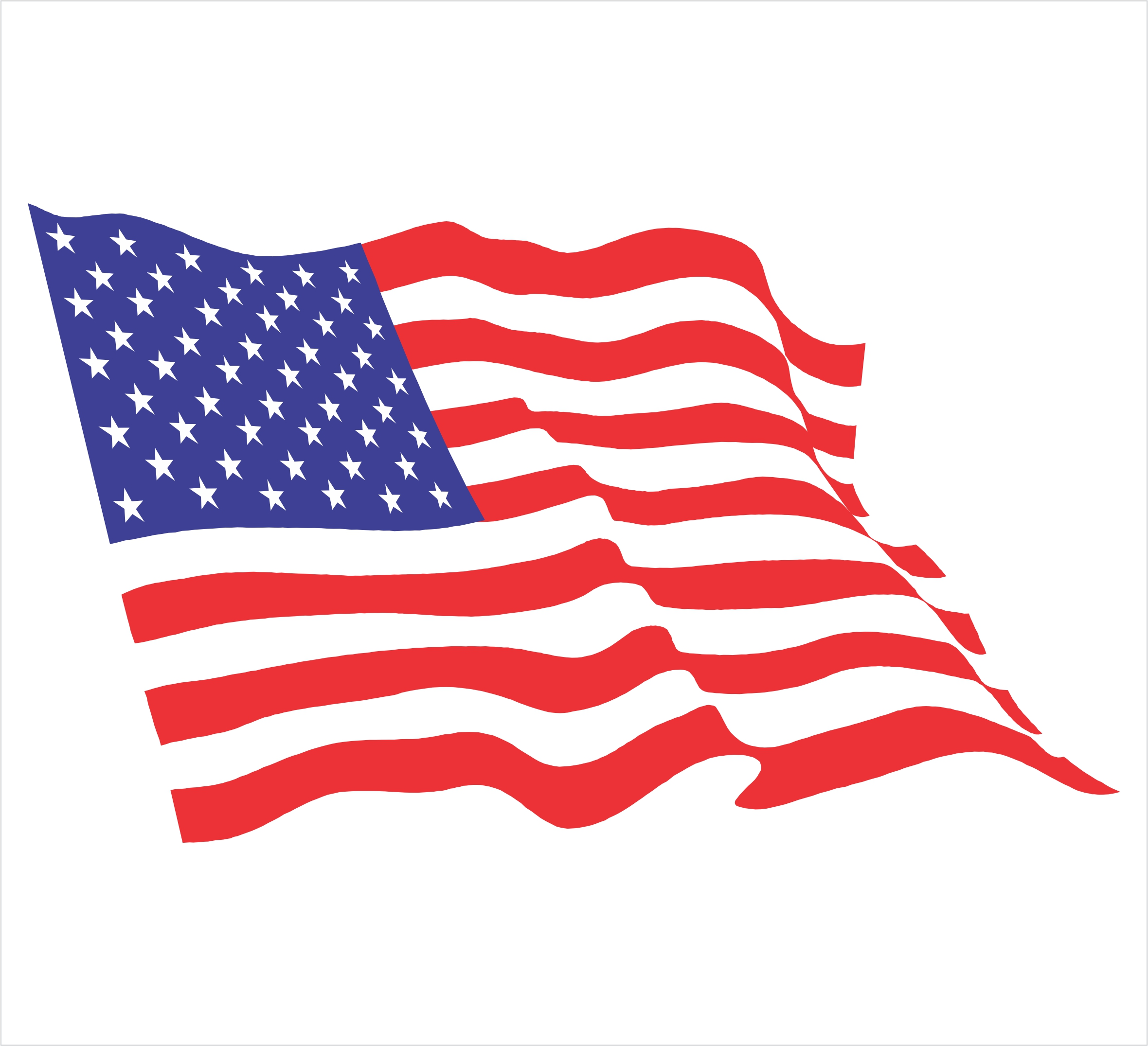 Flowing American Flag Clipart.