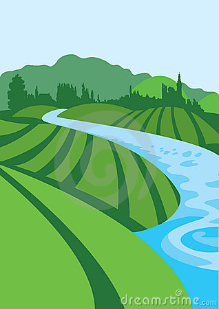 Flowing River Clipart.