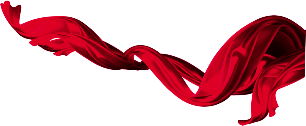 Satin Ribbon Red Flying Dance.