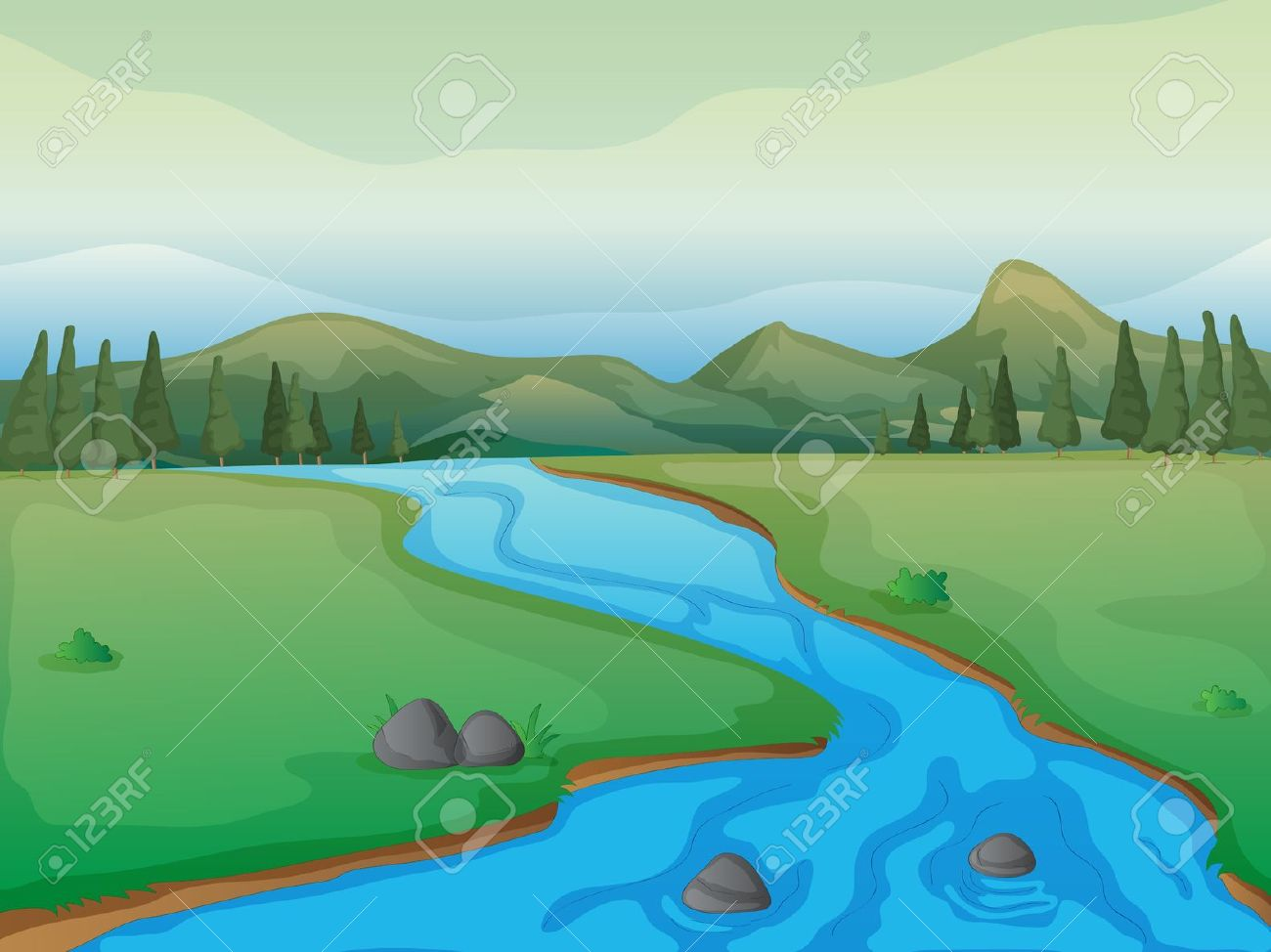 Animated river clipart.