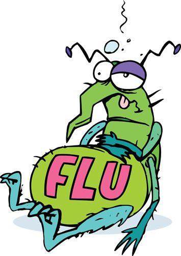 Flu Bug Cartoons Clipart.