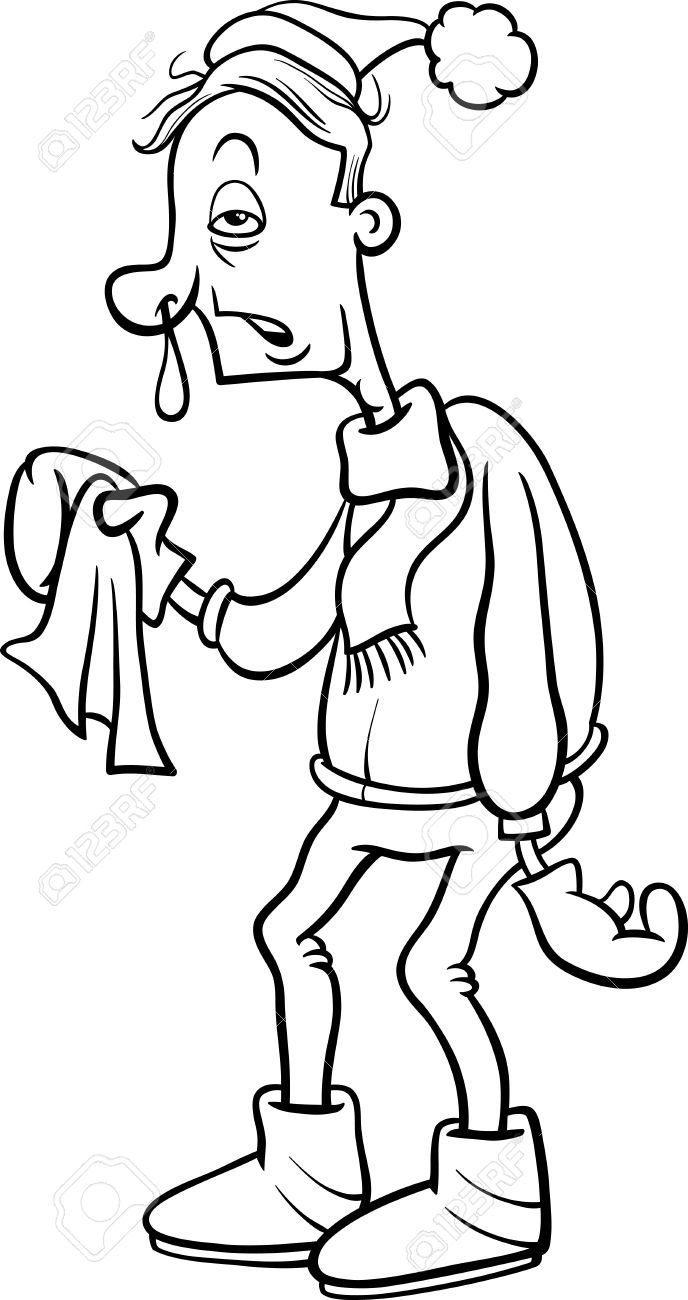 Runny Nose Clipart Black And White.