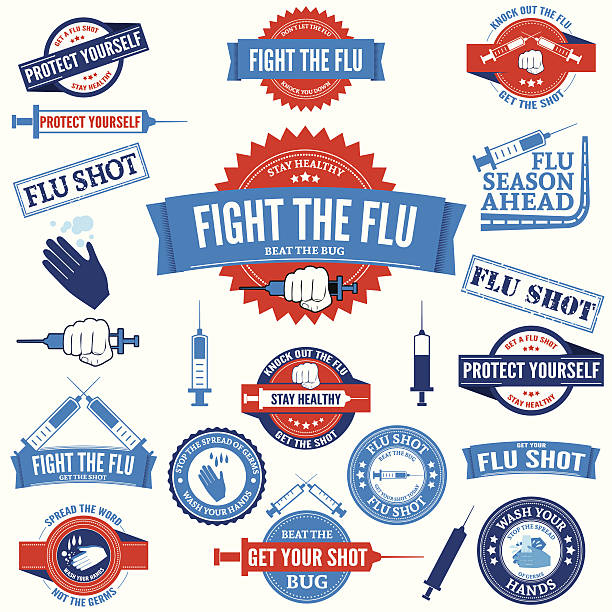 Best Flu Vaccine Illustrations, Royalty.