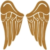 kleine Flügelpaare, schoko, Velours.