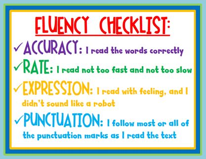 fluency for readers.