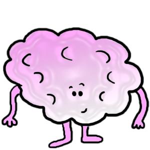 Cotton Candy Fluff Man Clip Art Illustration.