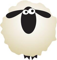 Sheep fluff clipart.