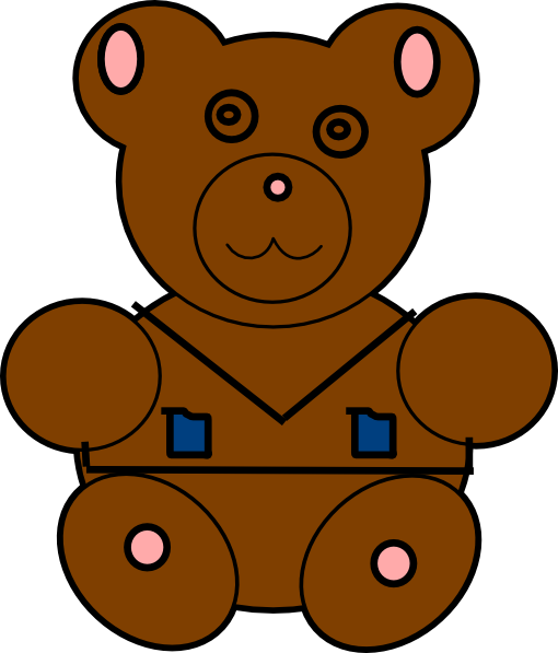 Brown Fluffy Teddy Clip Art at Clker.com.