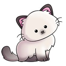 Fluffy cat clip art.