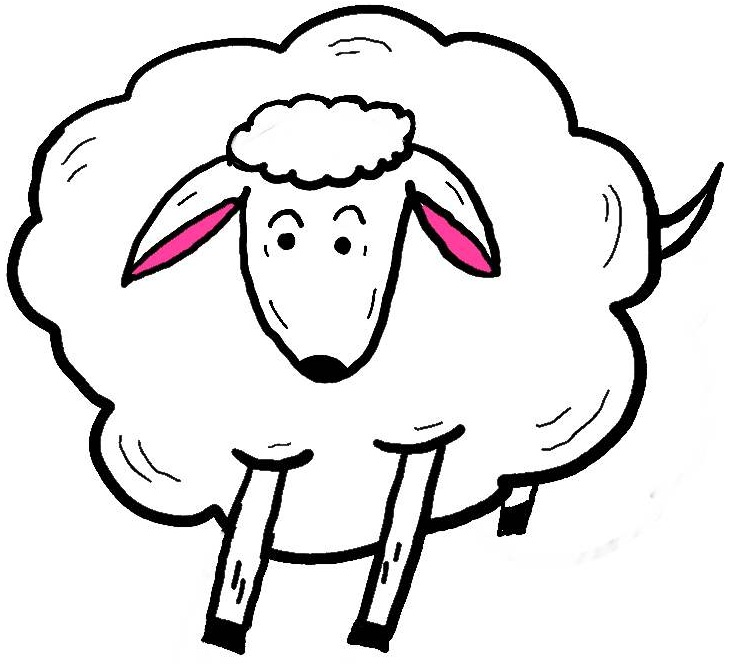 Fluffy sheep clipart.