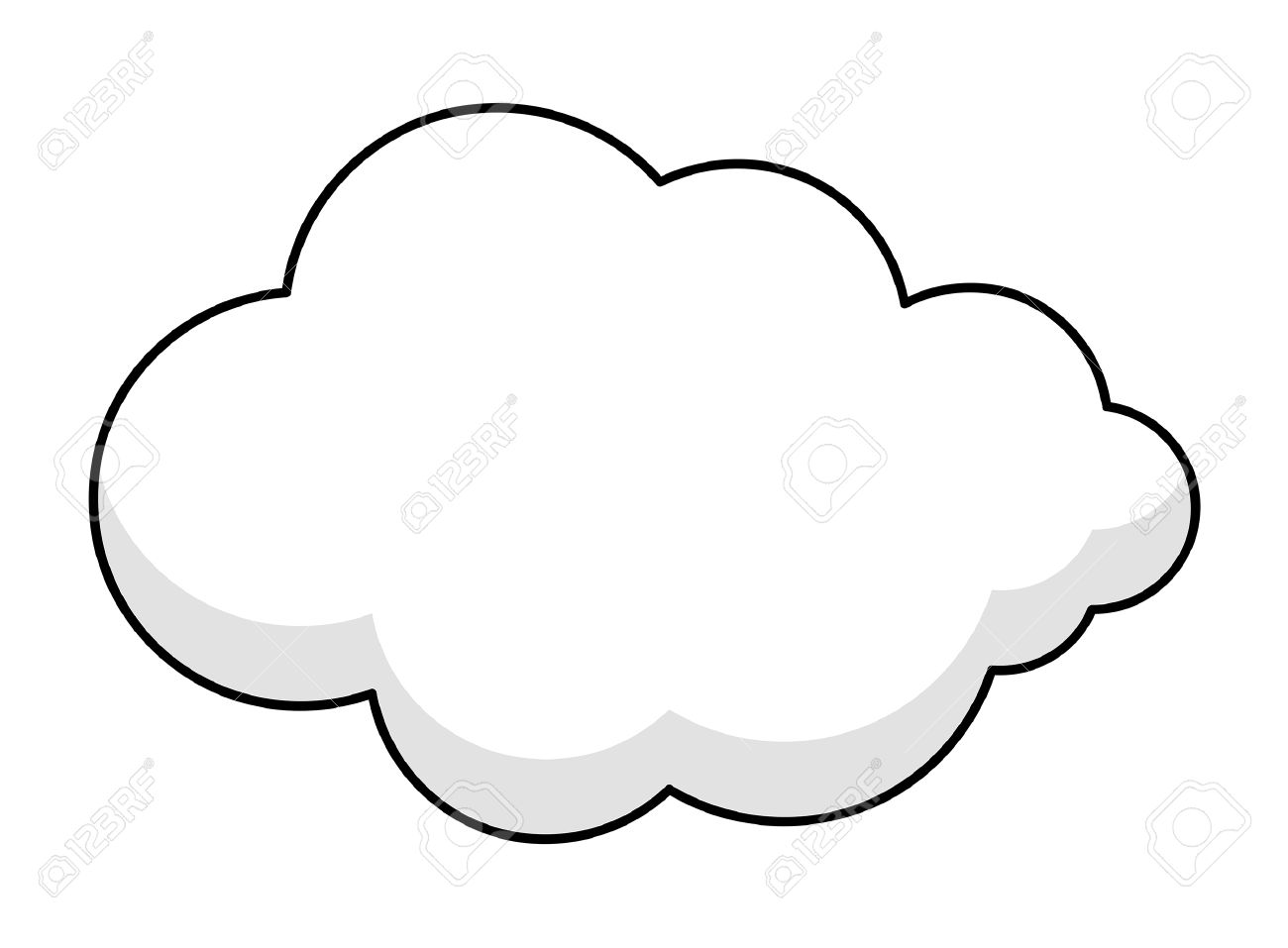 Fluffy Cloud Banner Royalty Free Cliparts, Vectors, And Stock.