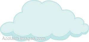 Clip Art of a Fluffy Cloud.