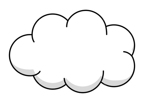 Fluffy white clouds clipart - Clipground