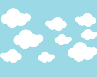 Fluffy clouds.