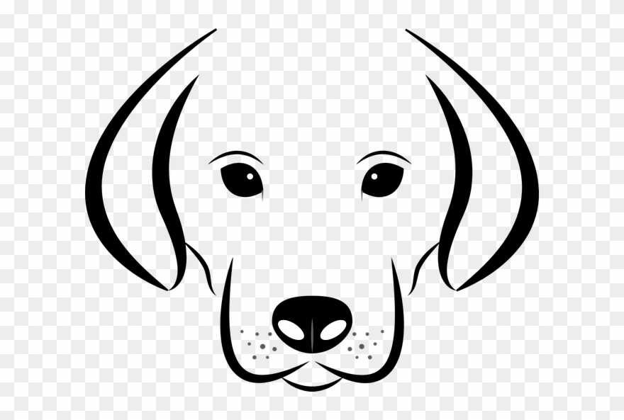 Dog Head Clipart Black And White.