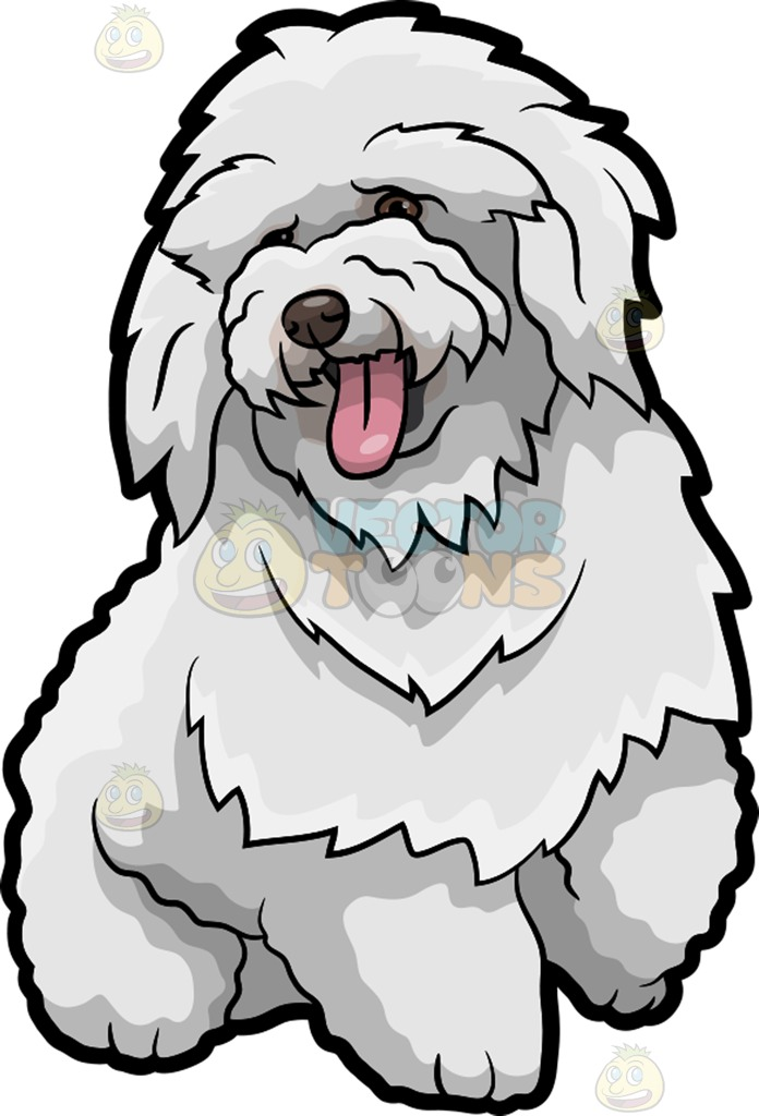 Fluffy Dog Clipart.