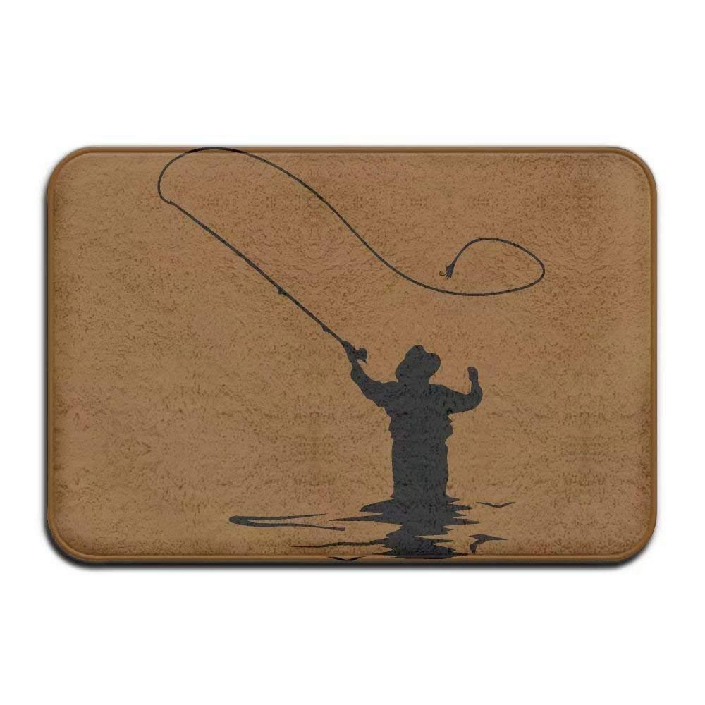 Amazon.com: Fly Fishing Clipart Indoor Outdoor Entrance Rug.