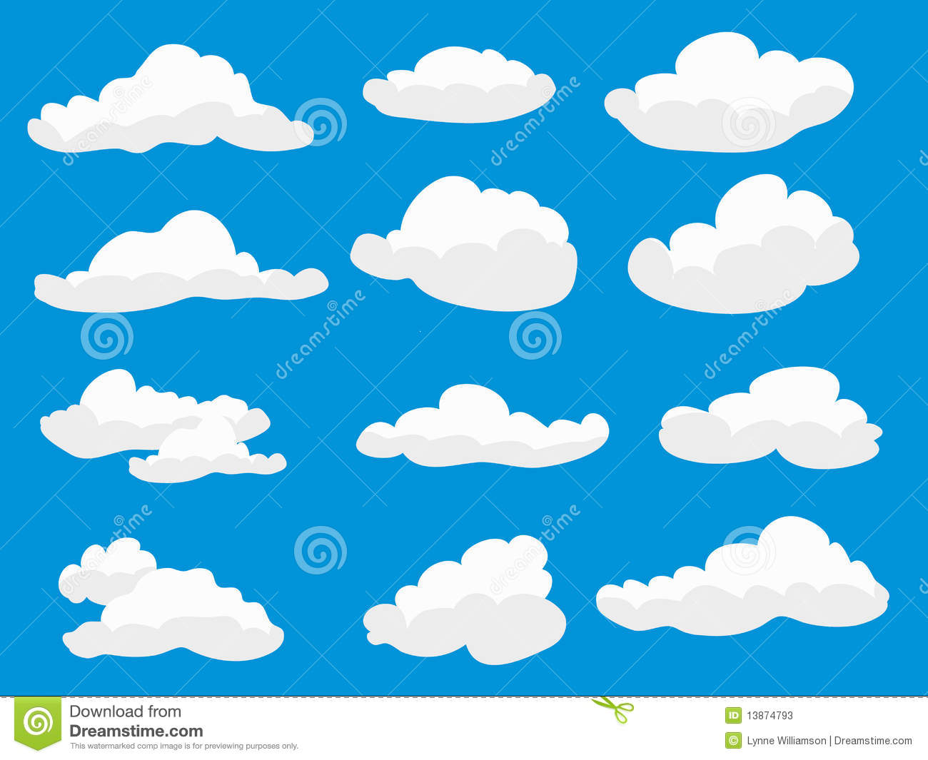 White Fluffy Clouds Stock Photos.