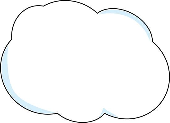 Fluffy White Clouds Clip Art.
