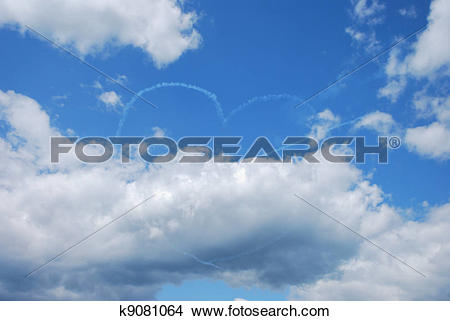 Stock Photo of two planes make heart k9081064.