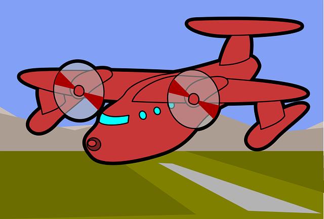 Free photo Aircraft Blue Fly Wing Turbine Flight Flyer Sky.