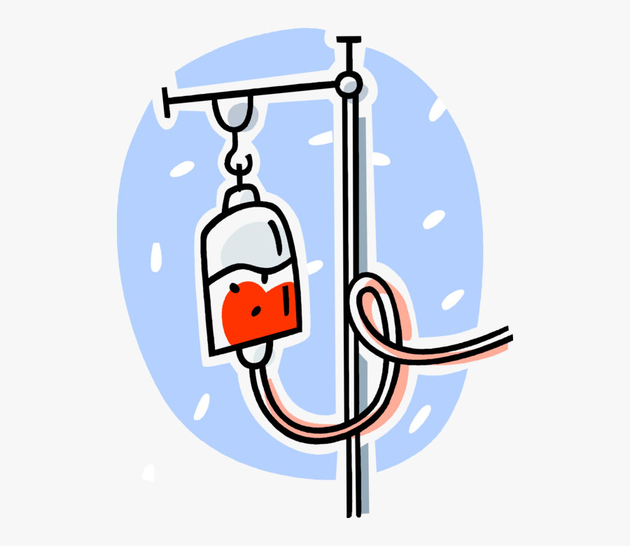 Vector Illustration Of Medical Intravenous Therapy.