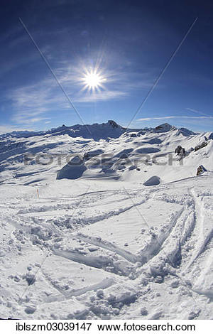"Picture of ""Winter mountain landscape with Spitzmeilen Mountain."