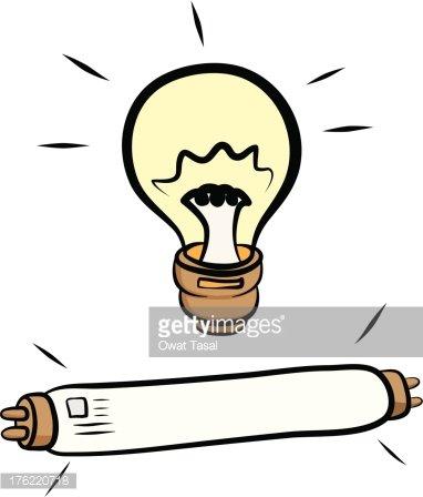 Light Bulb and Fluorescent Lamp premium clipart.