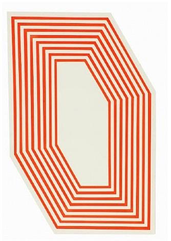 Untitled Hexagon Fluorescent Orange Stripes by Barry McGee on artnet.