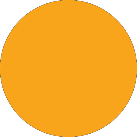 Removable Round Color Inventory Labels 1 12 Diameter Fluorescent.