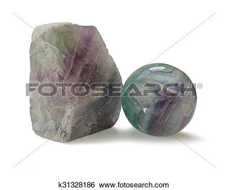 Stock Images of Fluorite crystal specimens k31328186.