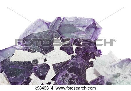 Stock Photo of Fluorite k9843314.