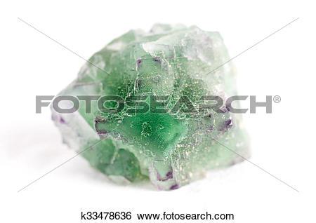 Stock Images of fluorite mineral sample k33478636.