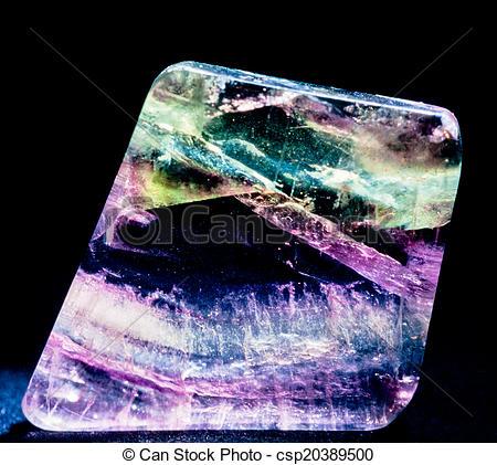 Stock Photography of Transparent fluorspar calcium fluorite.
