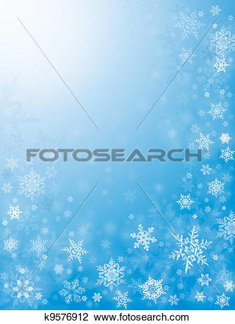 Clip Art of Snow Flurries in Blue k9576912.