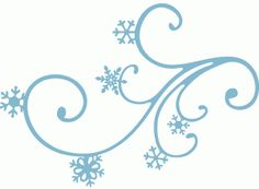 Snow Flurries Clip Art.