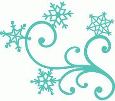 Snow Flurries Clip Art.