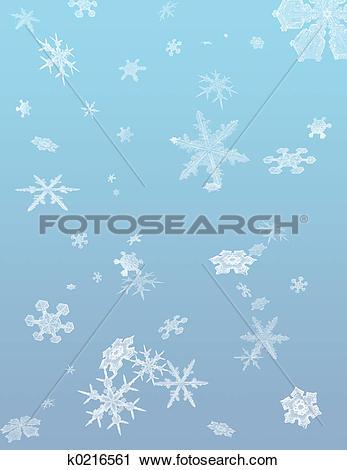 Clipart of Snow Flurry k0216561.