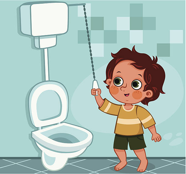Open toilet clip art