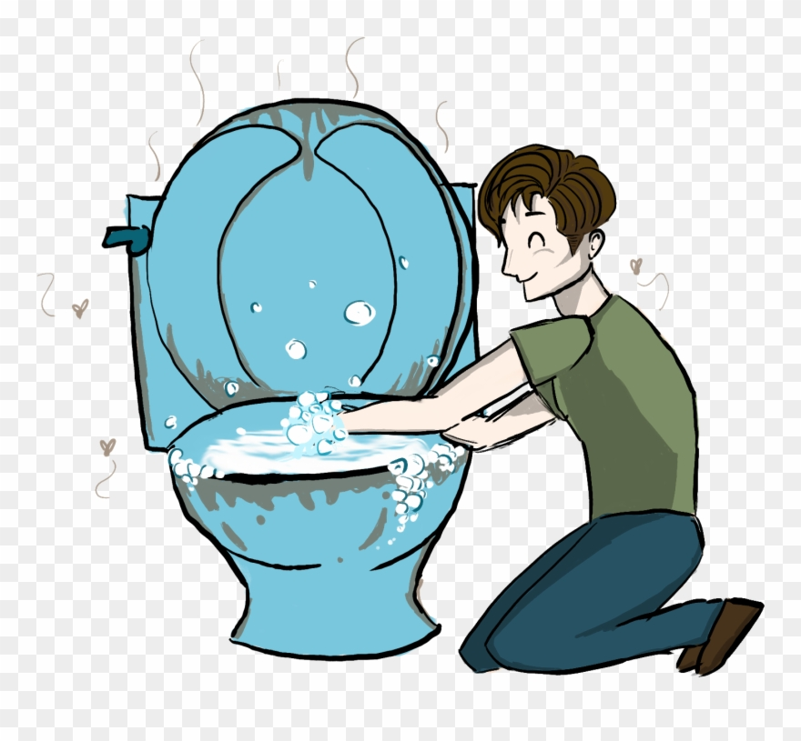 Clipart Toilet Flush Toilet.