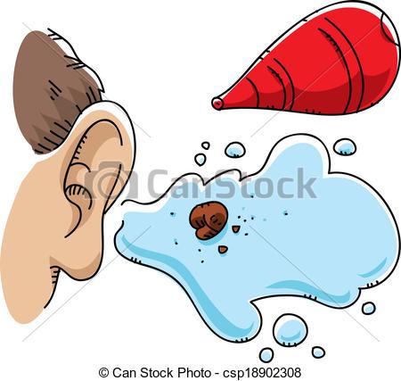 Vector Clipart of Ear Wax Flush.