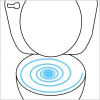 Flush Toilet Clipart.