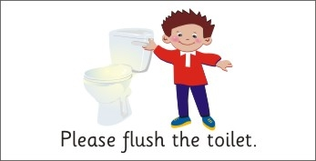 Flush after use clipart.