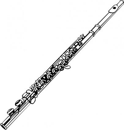 Flute clip art free vector.