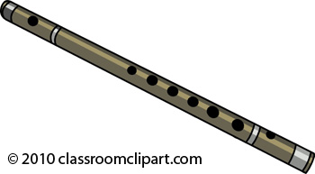 Clipart of flute.