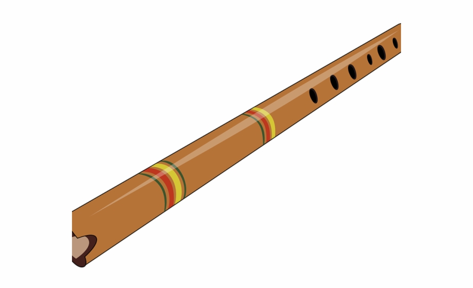 Fluted Clipart Wooden Flute.