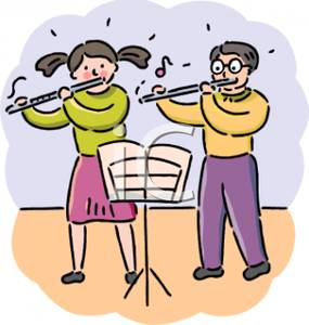 Playing Flute Clipart.